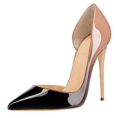 Women's Handmade Pointed Toe 12cm High Heel Pumps Ladies Sexy Stilettos Evening Shoes