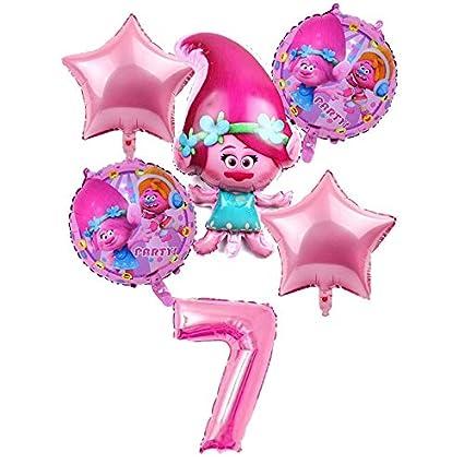 LIZHIOO Conjunto de Globos 6 pcs / Set Trolls Balloons Baby ...