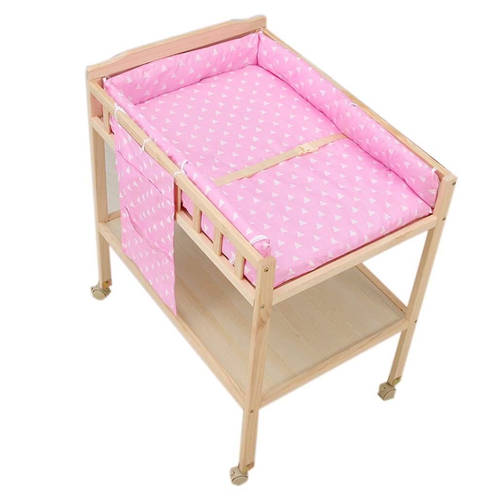 おむつ 交換台 女の赤ちゃん - 収納付き大型保育園モバイル幼児ドレッサーステーション、大きなカウンタートップ、簡単に組み立てる、60×84×100 cm (色 : B)  B B07Q4BJJ6M
