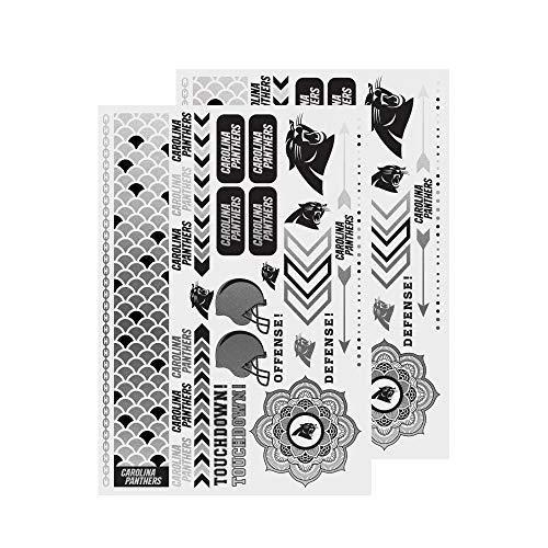 NFL Carolina Panthers Metallic Body Jewelry Stickers]()
