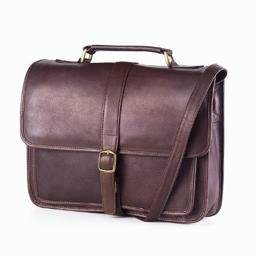 - Clava School Leather Bag - Leather - Vachetta Cafe - Vachetta Cafe