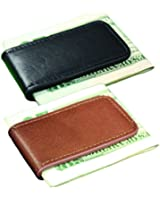 Leather Magnetic Money Clip Black Brown Tan Multiple Colors Set of 2