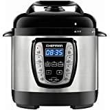 Chefman 2.5 Qt. Electric Pressure Programmable Multicooker, Prepare Dishes in an Instant, Aluminum Pot Multifunctional Slow, Rice Cooker/Steamer, Sauté, Soup Maker