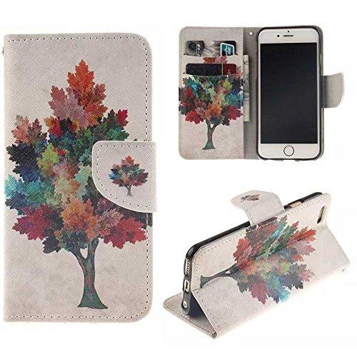 """Coloré Motif PU Cuir portefeuille Housse Etui pour Apple iPhone 6s Plus / iPhone 6 Plus 5.5"""" Case Coque Effacer Protection Flip Cover avec carte de crédit Slots (T04#)"""