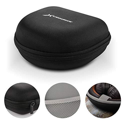 Hard EVA Headphone Case Pouch Travel Bag (Black + Grey) for Marshall Major II Major III BT MID Monitor On-Ear Headset