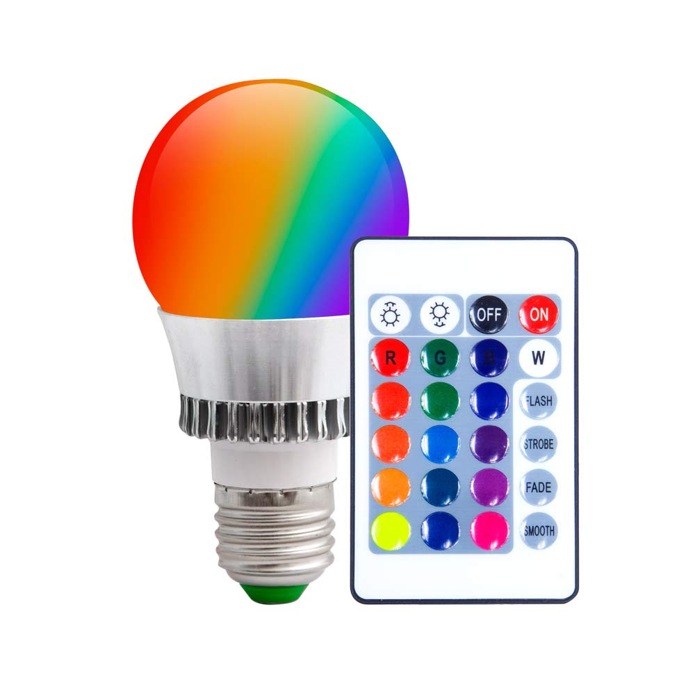 Kingwin color changing smart light bulbs rgb color changing led lamp fixtures easy installation available in red green blue white auto change colors