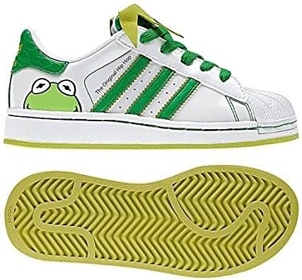 Denso borracho ayer  Amazon.com | Adidas Superstar 2 Disney Kermit Toddler Infant Shoes (8) |  Shoes