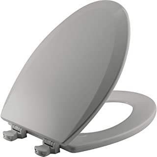 product image for BEMIS 1500EC 162 Toilet Seat with Easy Clean & Change Hinges, ELONGATED, Durable Enameled Wood, Silverado