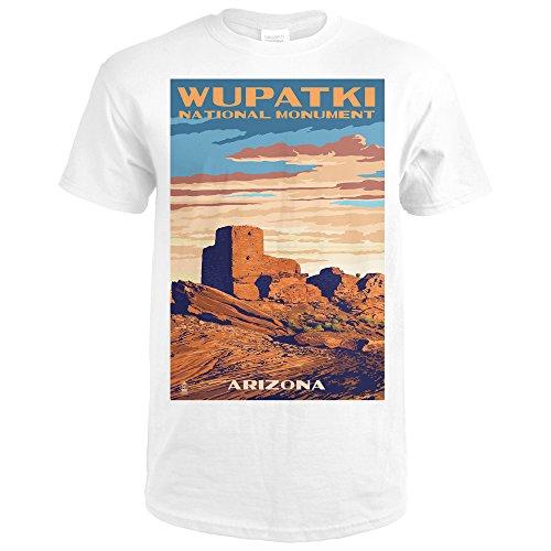 Wupatki National Monument, Arizona (Premium White T-Shirt (Monument Park Brick)