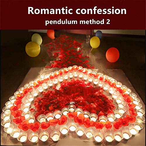 Jiokuy Birthday Decoration Confession Proposal Props Romantic Decoration Set Creative Surprise Gift Rose Candle Heart Pattern