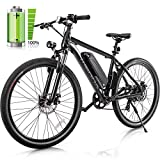 Merax 26' Electric Mountain Bicycle - 350W Electric Bike with 36V/8.8AH Removable Lithium-Ion Battery, Shimano 7 Speed Shifter (Black)