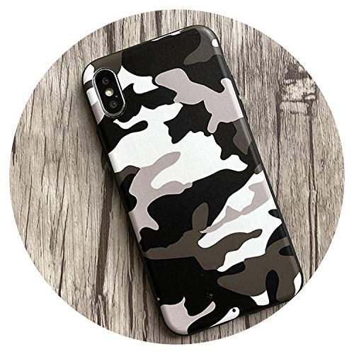 for iPhone 7 6 6S Plus Case Navy Army Camo Pattern Soft Pu Leather Case Back Cover for iPhone X 10 6 6S 8 Plus,White,for iPhone - Lifeproof Ipod 4 Camo Case