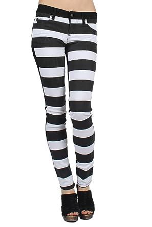 2207d86801e Amazon.com  Tripp NYC - Womens Split Jeans in Black White