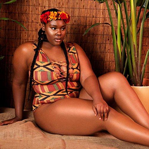 Badeanzüge WINWINTOM Spielanzug tiefer V-Ausschnitt Frauen Club Jumpsuits Geometrischer Druck Bikini Bademode
