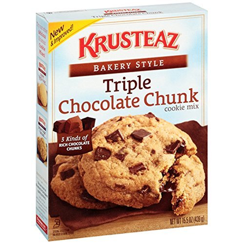 Krusteaz Bakery Style Cookie Mix, Triple Chocolate Chunk 15.5 Ounce (Pack of 4)