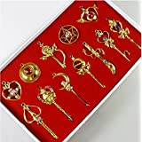 Feeling Sailor Moon Pendant 12 pieces Chain Necklace Accessory (Gold)