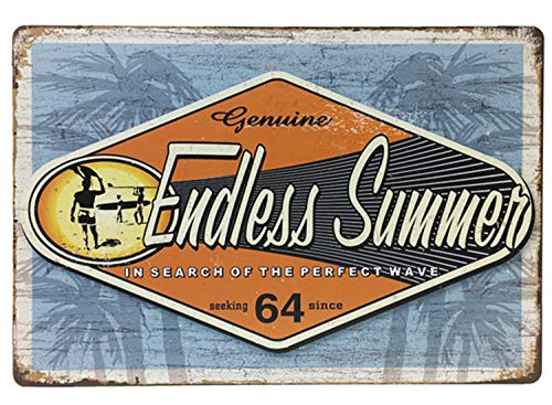 Flytime Genuine Endless Summer Seaside Beach Vintage Metal Tin Sign Wall Art Decor