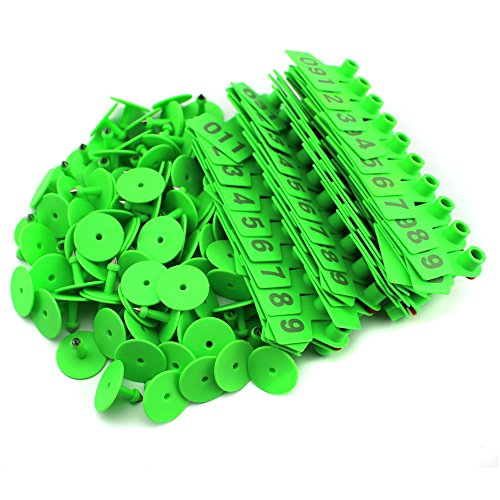 General Green 1-100 Number Plastic Livestock Ear Tag Anim...