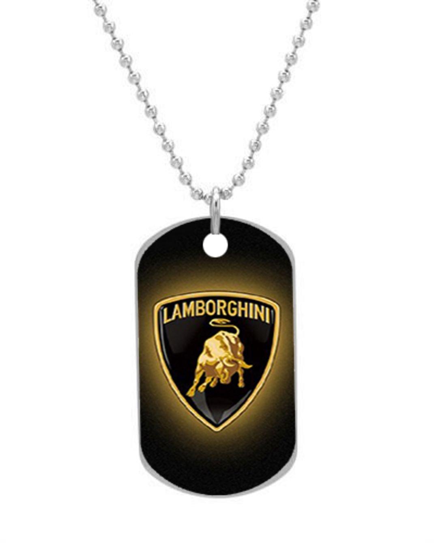 Lamborghini Logo Design Personlized Style Oval Dog Tag Pet Tag