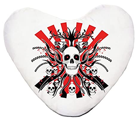 Cranes-Cojín con forma de corazón, diseño de Kelly: Amazon ...