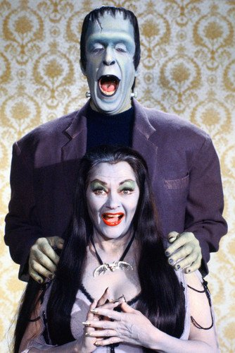 The Munsters 24x36 Poster Herman and Lily laughing!]()