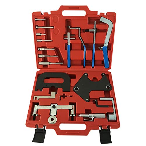 SUNROAD 20pcs Engine Master Timing Tool Sets Camshaft Gear Alignment Tool for Rennault