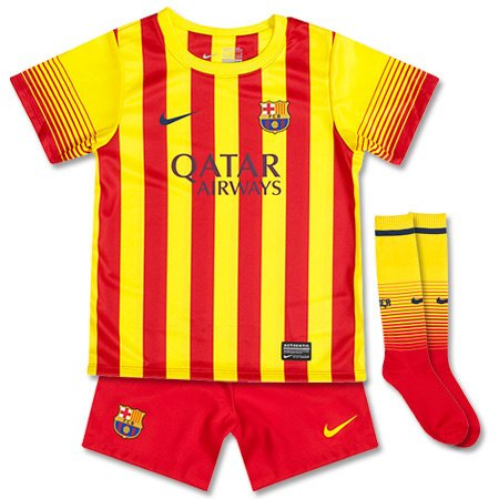 2013-14 Barcelona Away Nike Little Boys Mini (Away Little Boys Kit)