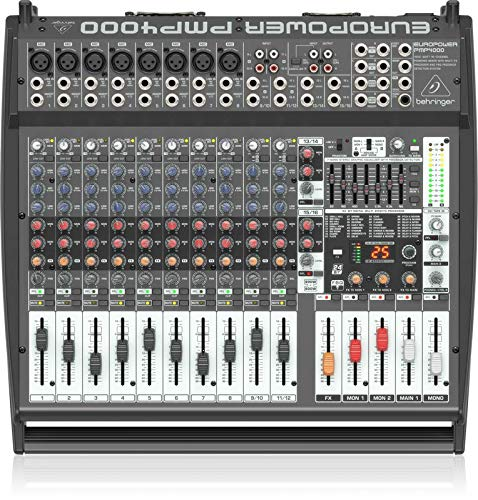 Multi-FX Processor and FBQ Behringer PMP4000 1600-Watt 16-Channel Powered Mixer