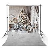 1Pcs Christmas Wood Floor Photography Backdrop/Background/Floor Drop-Christmas Backdrops Background Photo Studio-Photo Video Photography Studio Backdrop Background Screen (Vinyl, 180x250cm)