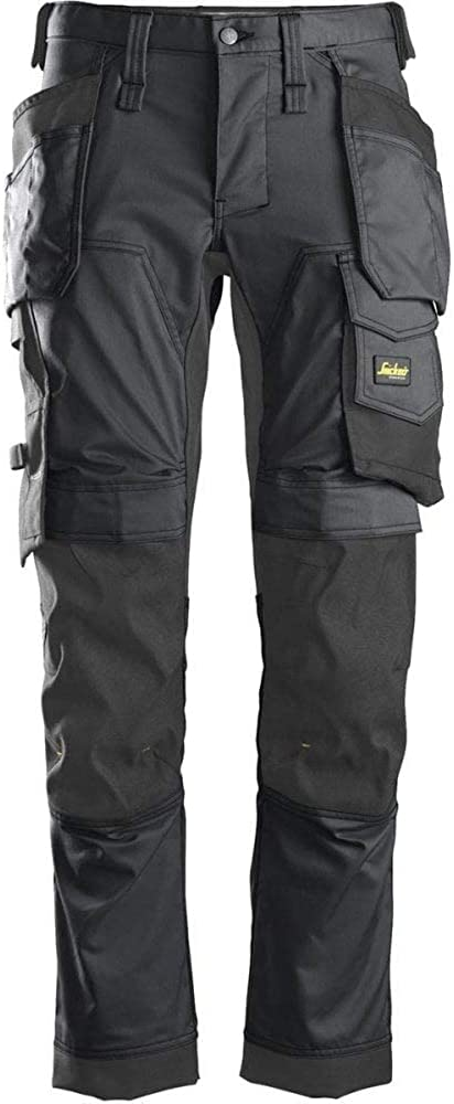 Snickers 6241 AllroundWork Slim Fit Trousers Holster Pockets Steel Grey 33 30