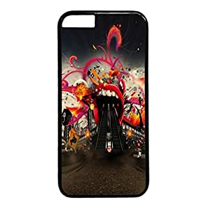 Abstract Design Black PC Case for iphone 5c Entrance