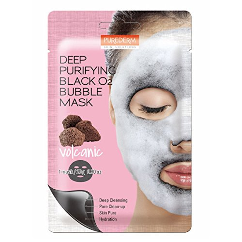 Deep Purifying Black O2 Bubble Mask By Purederm: 10 Volcanic