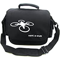 Rantow Portable Nylon Shoulder Bag Carrying Case for DJI Spark and Mavic Quadcopters Protective Drone Messenger Bag Travel Storage Bag Suitcase