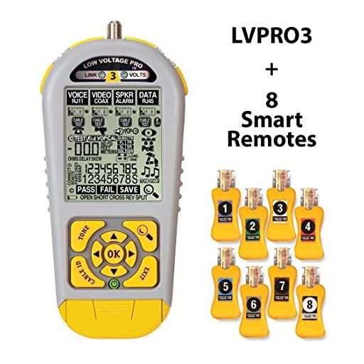 Triplett / Byte Brothers LVPRO3SR Multifunctional Cable Tester for RJ45 RJ11 and Coax Includes Smart Remotes