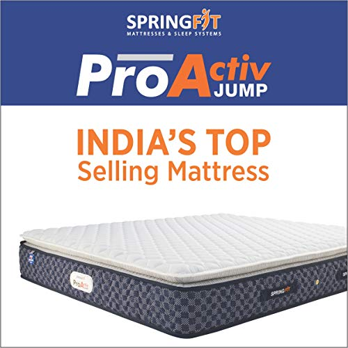 SPRINGFIT ENJOY STRESS FREE SLEEP Proactive Jump Bonnell Spring Single Mattress  78 x 36 x 6 Inches