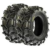 SunF Mud MT AT ATV UTV Tires 25x11-10 25x11x10 6 PR A050 (Set pair of 2)