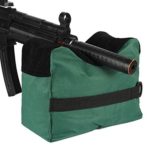 Tikteck Shooting Rest Bag – Outdoor Rifle Hunting Gun Accessories Target Sports Bench,Front & Rear Bags For Shooter Hunter w a Gun Cleaning cloth,Unfilled,Green…