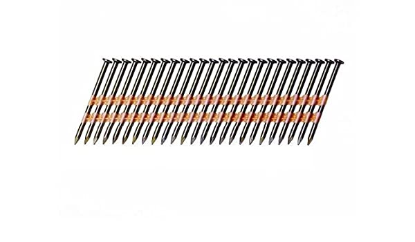 "2,500 8d 2 3//8/"" Inch Nails 21 Degree Full Round Head Plastic Strip"
