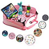 DMoose Kids Travel Activity Tray – Non-Flimsy, Tablet Holder, Strong Buckles, Sturdy Side Walls & Padded Base – Waterproof Snack, Play, Learn & Organize Lap Desk for Car Seats, Strollers & Air Travel