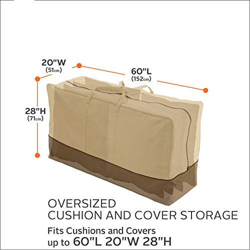 Classic Accessories 55-648-051501-00 Veranda Patio Cushion & Cover Storage Bag, Oversized by Classic Accessories (Image #1)