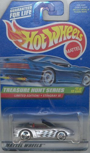 Series 759 - Hot Wheels 1997 759 TREASURE HUNT SERIES LIMITED EDITION STINGRAY III 1:64 Scale Die-cast Collectible Car