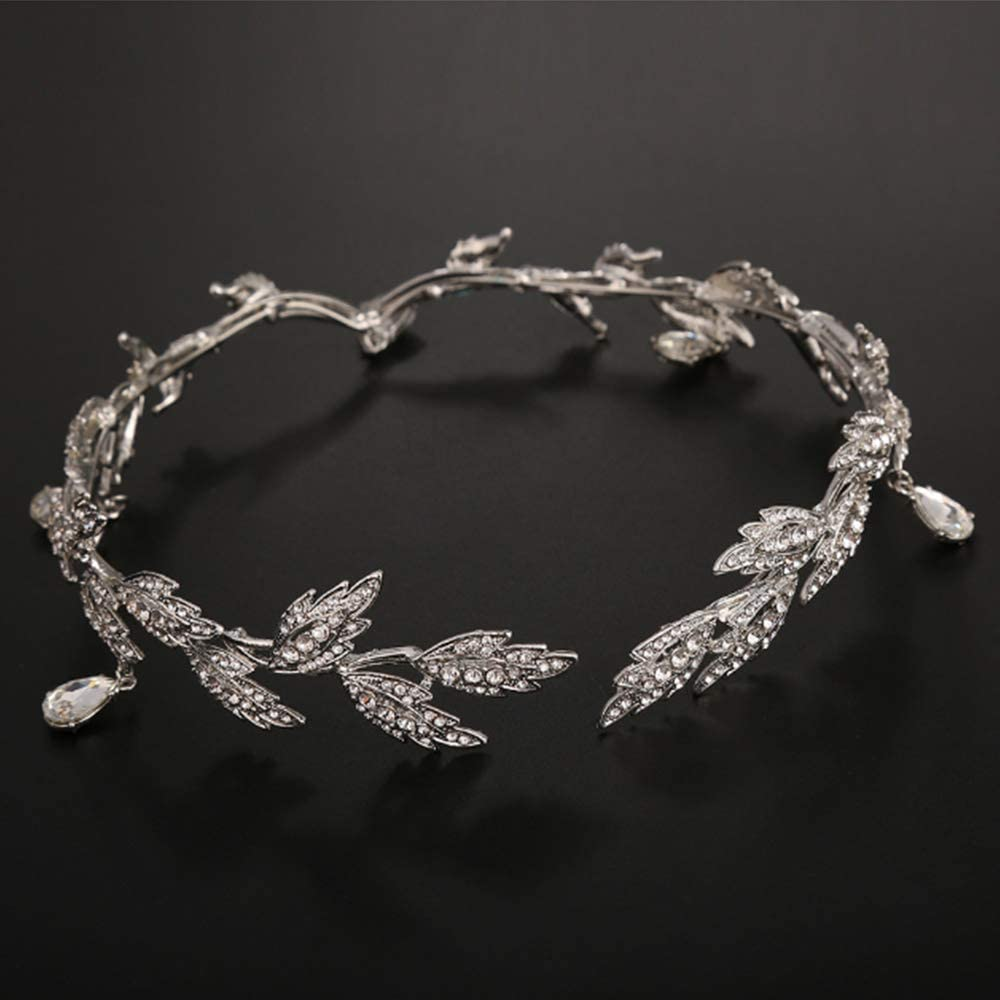 GongDi /Diad/èmes Cor/éenne mari/ée Front Diamant Mariage sourcil Pendentif Couvre-Chefs Alliage Bijoux Crystal Crown