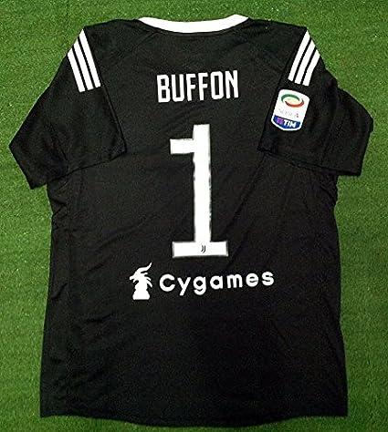 58c78ac523b Amazon.com : Retro Buffon#1 Juventus Goalkeeper Soccer Jersey 2017-2018  Calcio Patch : Sports & Outdoors