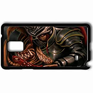 Personalized Samsung Note 4 Cell phone Case/Cover Skin Art Armor Guy Horn Eye Canines Black by supermalls