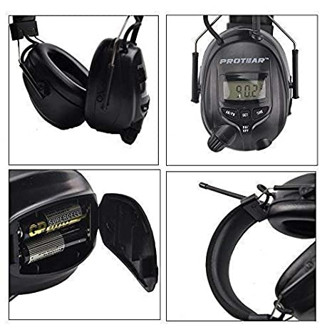 FM//AM Radio Noise Reduction Headset,Protear Ear Defenders with Stereo Headphone Jack for Working and Industrial,SNR 30dB