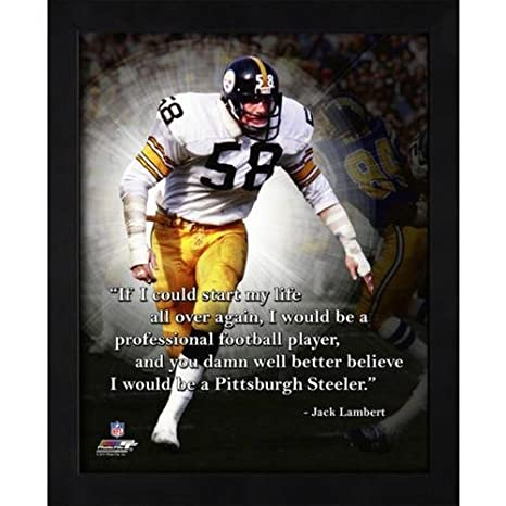 d129086aa Amazon.com  Jack Lambert Pittsburgh Steelers (White Jersey) Framed ...