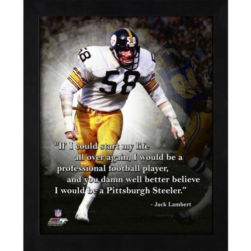 Jack Lambert Pittsburgh Steelers (White Jersey) Framed, used for sale  Delivered anywhere in USA