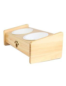 Cuenco de cerámica Cuenco de madera Cuenco de perro Cuenco doble Cuenco de agua potable automático Fuentes para gato ...