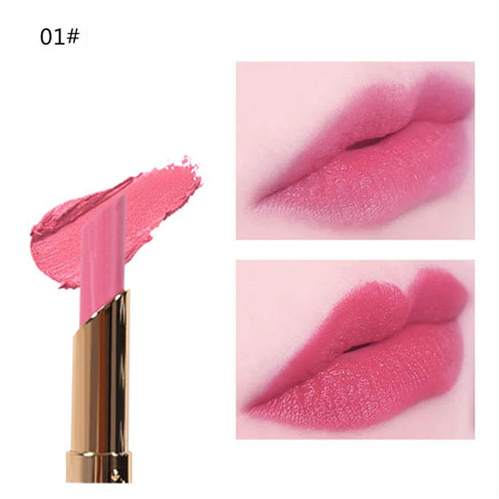 Jaysis➤Nutritious,Waterproof, Long Lasting, Cosmetics Matte and Pumpkin Color Bean Paste Lip Solid Gloss Lipstick Long Last Jaysis➤Nutritious