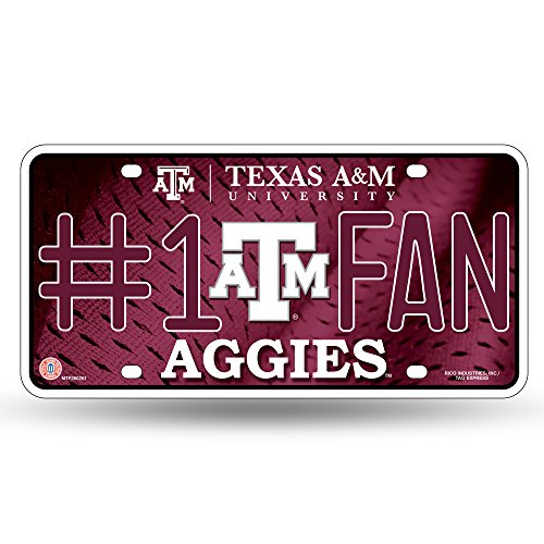 NCAA Texas A&M Aggies #1 Fan Metal License Plate ()